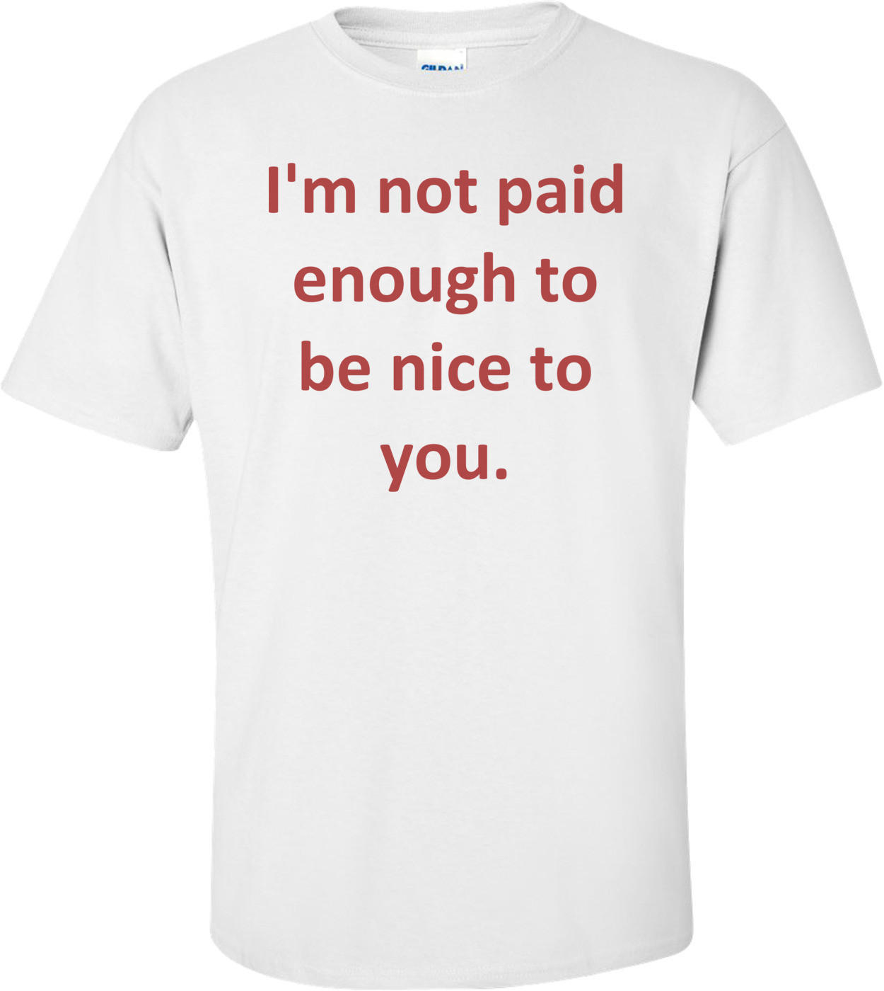 I'm not paid enough to be nice to you. Shirt
