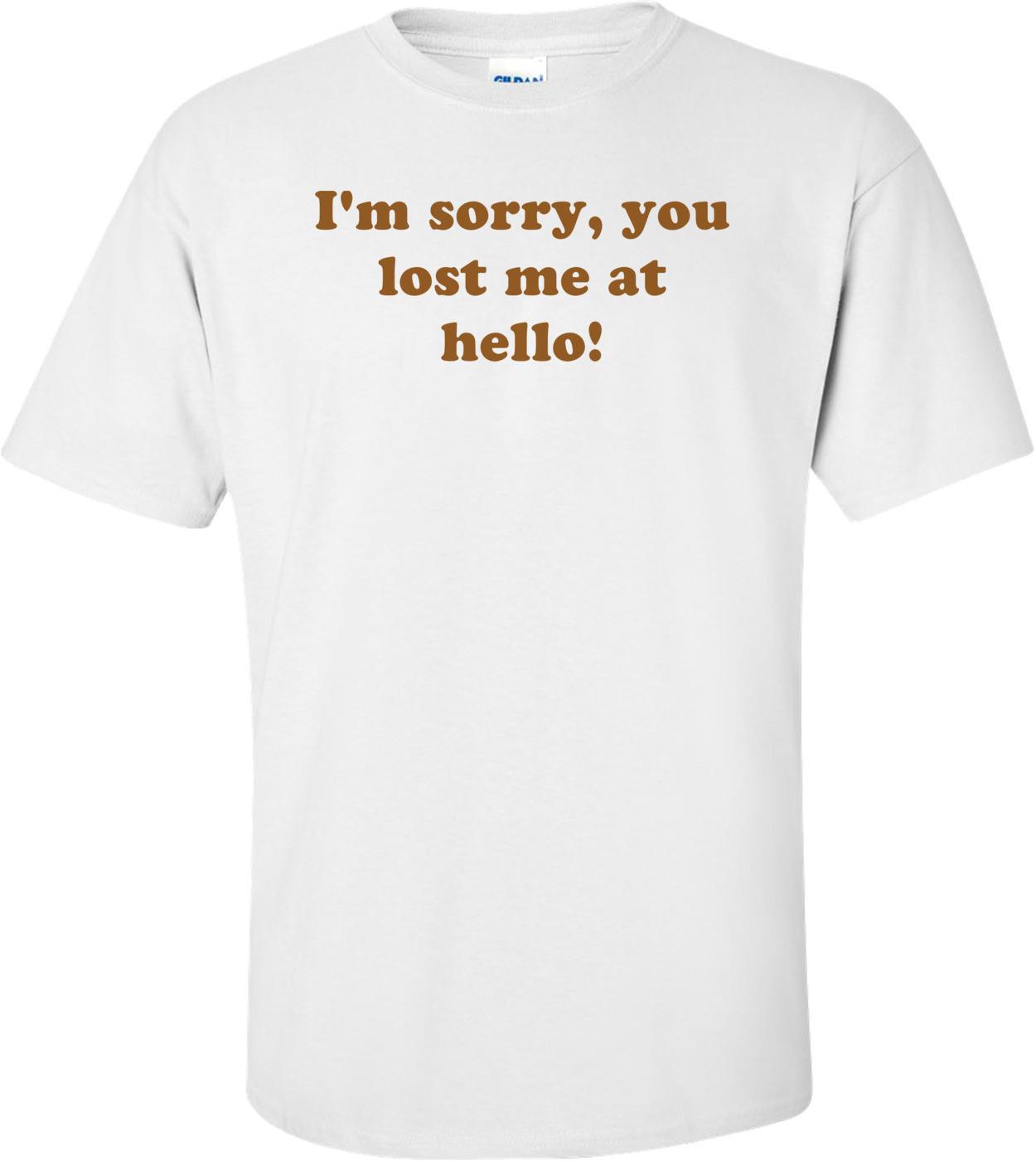 I'm sorry, you lost me at hello! Shirt