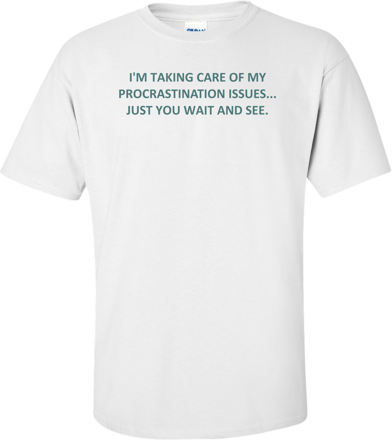 I'M TAKING CARE OF MY PROCRASTINATION ISSUES... JUST YOU WAIT AND SEE. Shirt