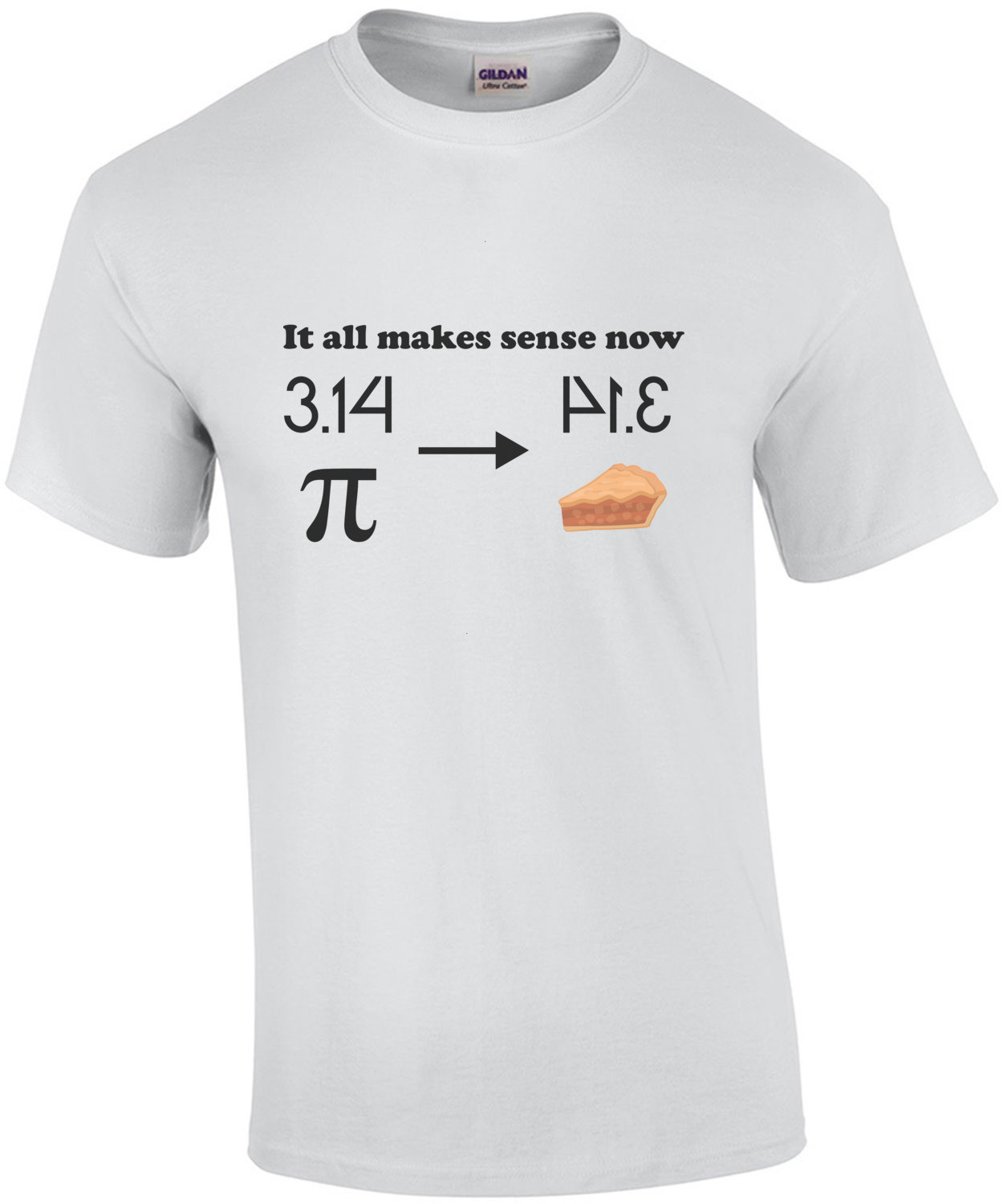 It all makes sense now pi t-shirt