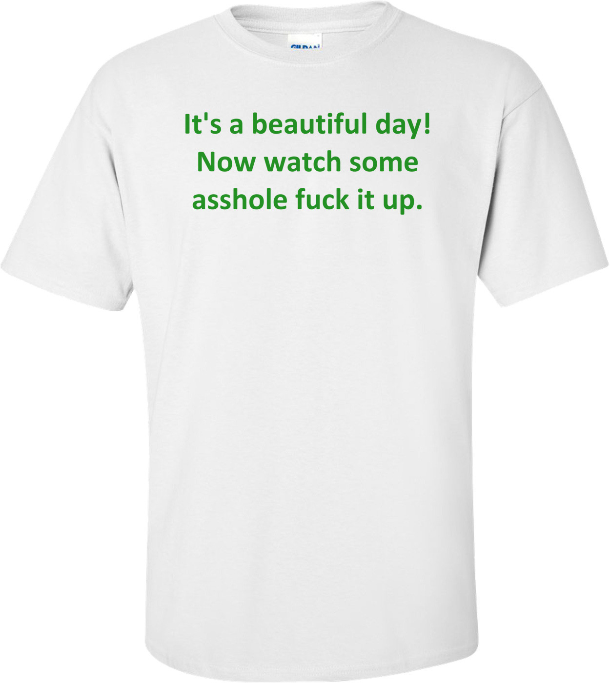 It's a beautiful day! Now watch some asshole fuck it up. Shirt