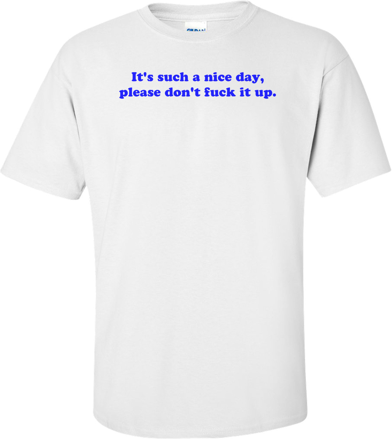 It's such a nice day please don't fuck it up. Shirt