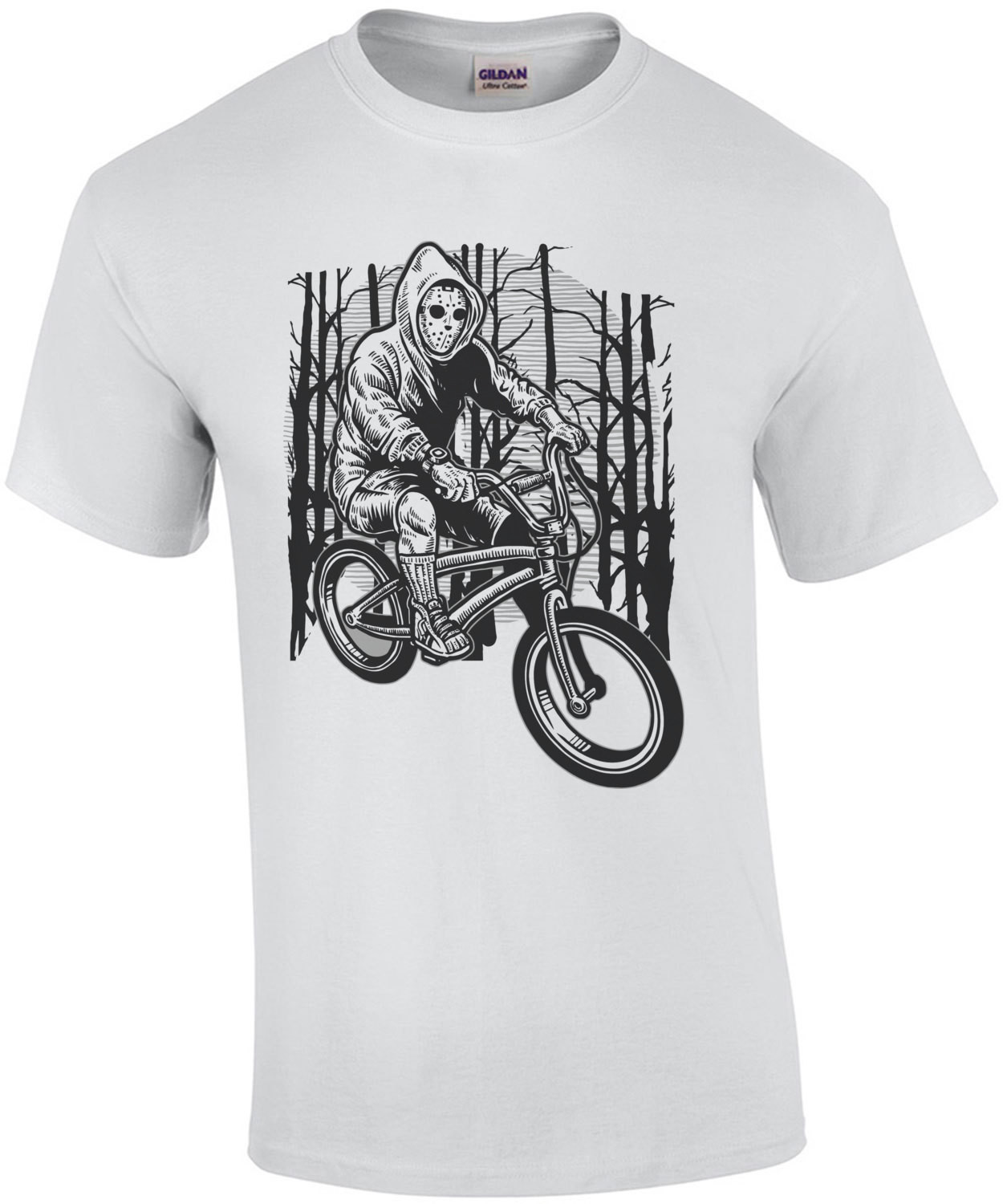 Jason Riding Bicycle Grungy T-Shirt