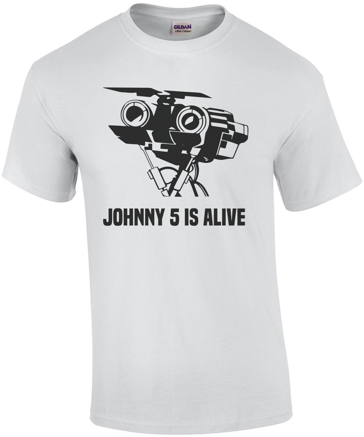 Johnny 5 is alive - Short Circuit - 80's T-Shirt