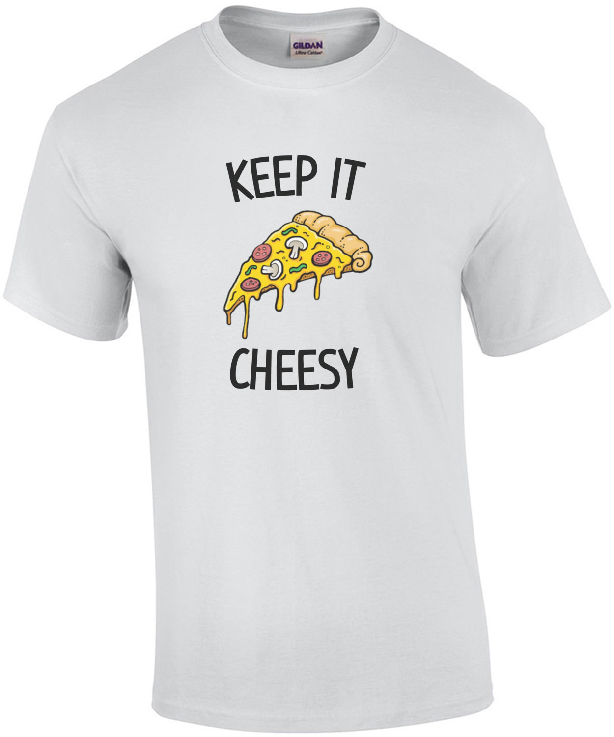 Keep it cheesy - funny cheese t-shirt