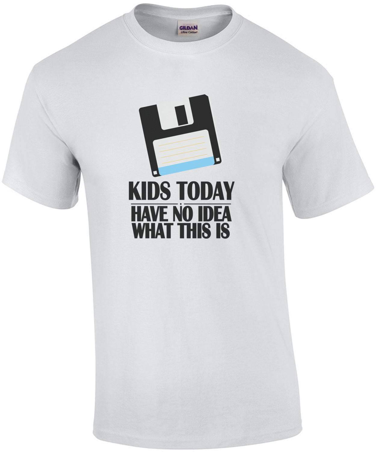 Kids today have no idea what this is - floppy disk t-shirt