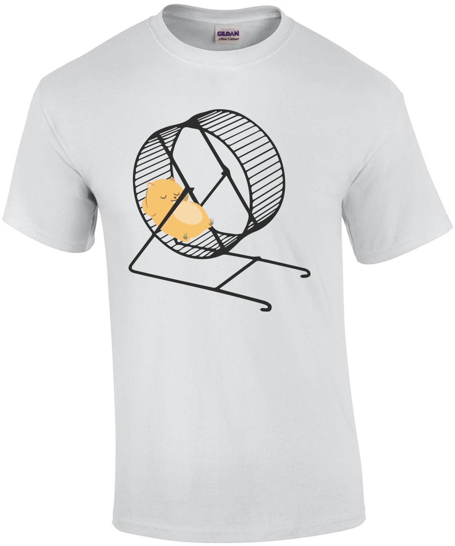 Lazy Hamster chilling on hamster wheel. Hamster T-Shirt