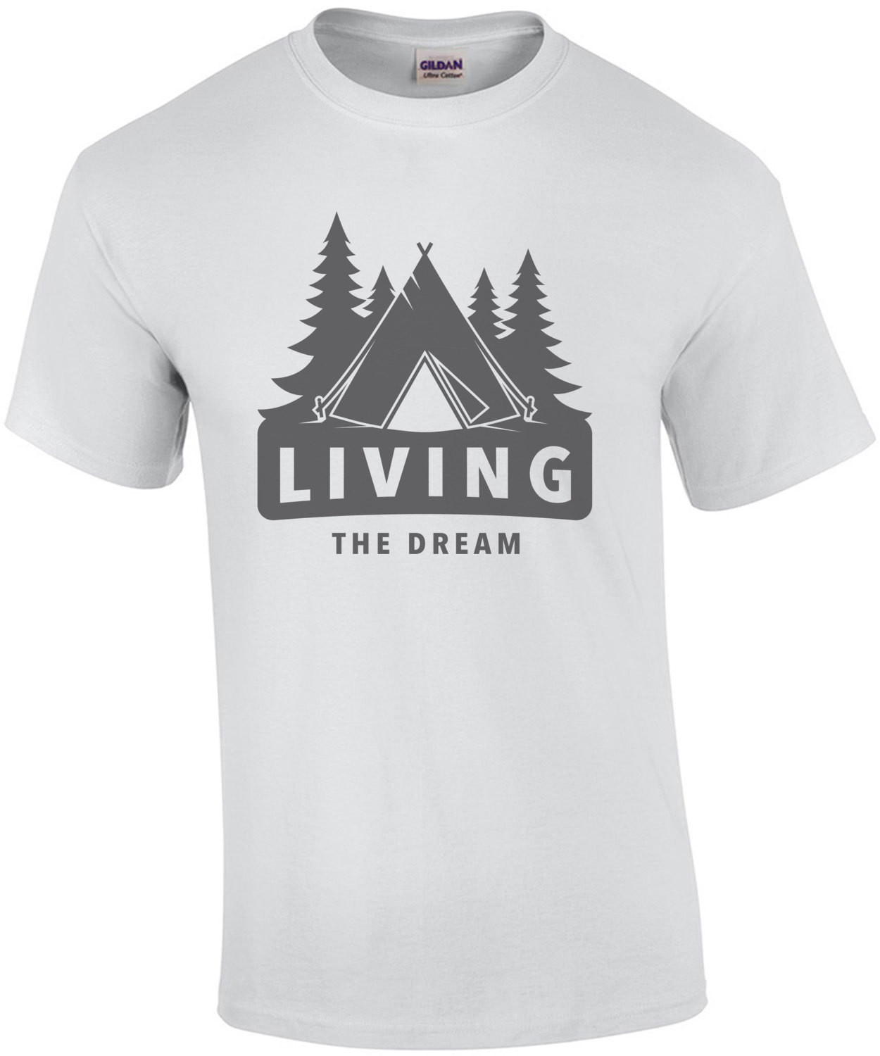 Living the dream - funny camping t-shirt
