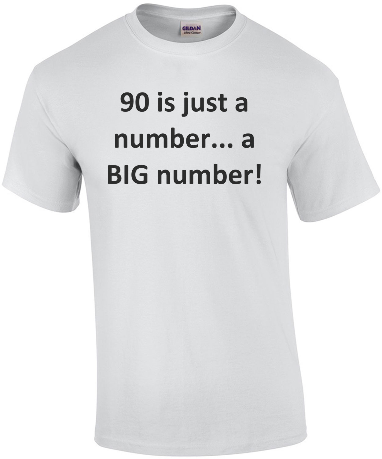 90 is just a number... a BIG number! Happy Birthday T-Shirt Shirt