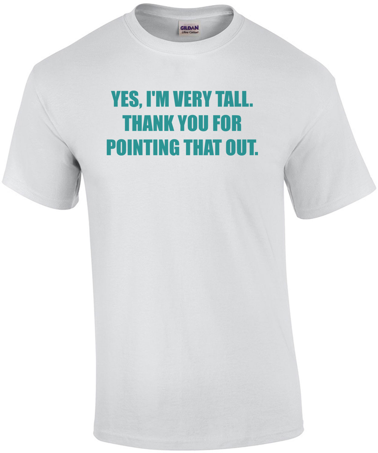 YES, I'M VERY TALL. THANK YOU FOR POINTING THAT OUT. Shirt