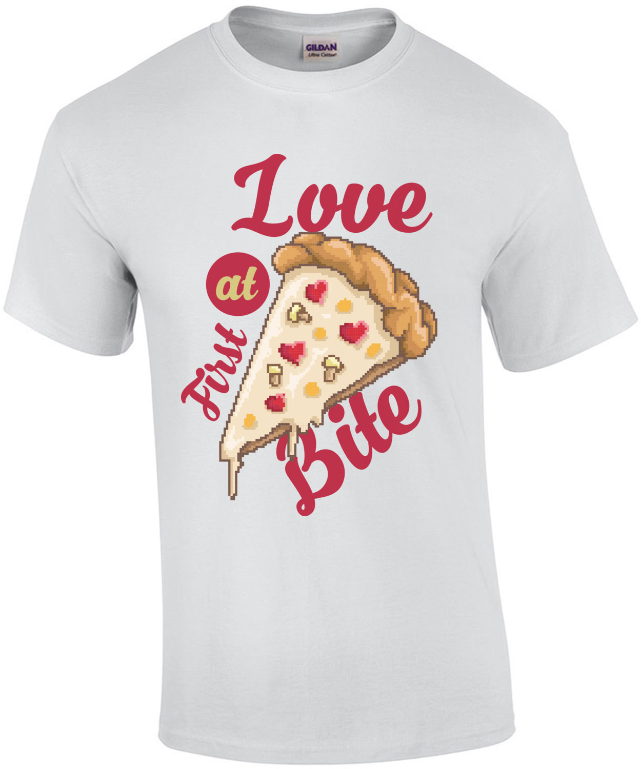 Love At First Bite Retro Pizza T-Shirt