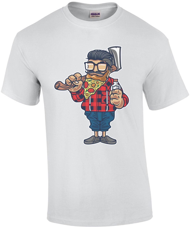 Lumberjack Pizza Beard T-Shirt