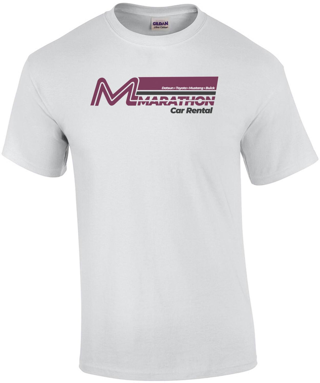Marathon - Car Rental - Gobble Gobble Gobble - Planes Trains & Automobiles 80's T-Shirt