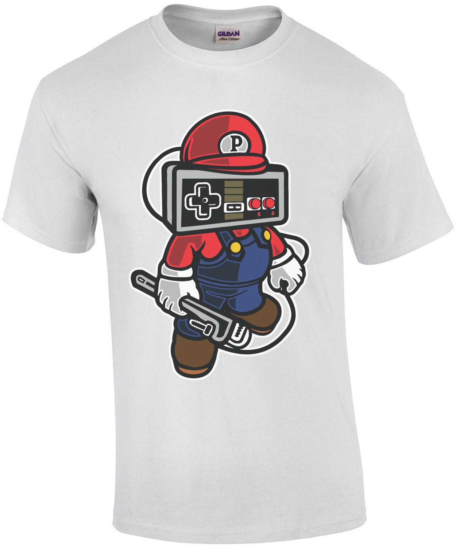 Mario Style Controller Head Retro T-Shirt