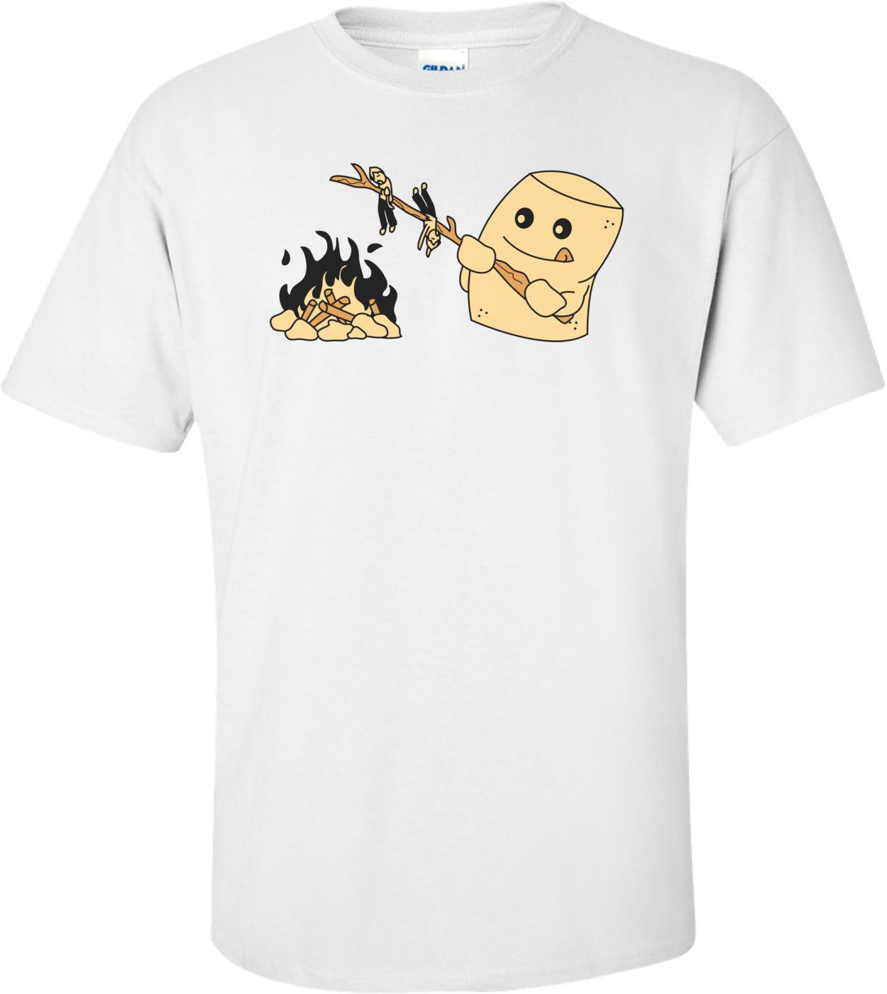 Marshmallow Roasting Funny Shirt