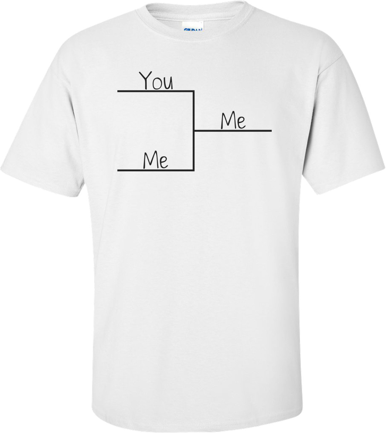 Me Beating You Bracket T-shirt