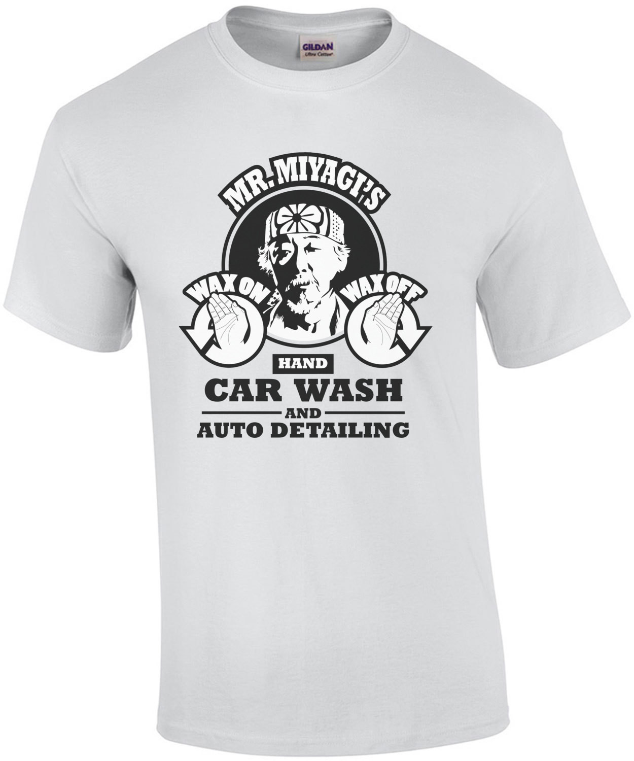 Mr. Miyagi's Hand Car Wash and Auto Detailing - Funny Karate Kid T-Shirt