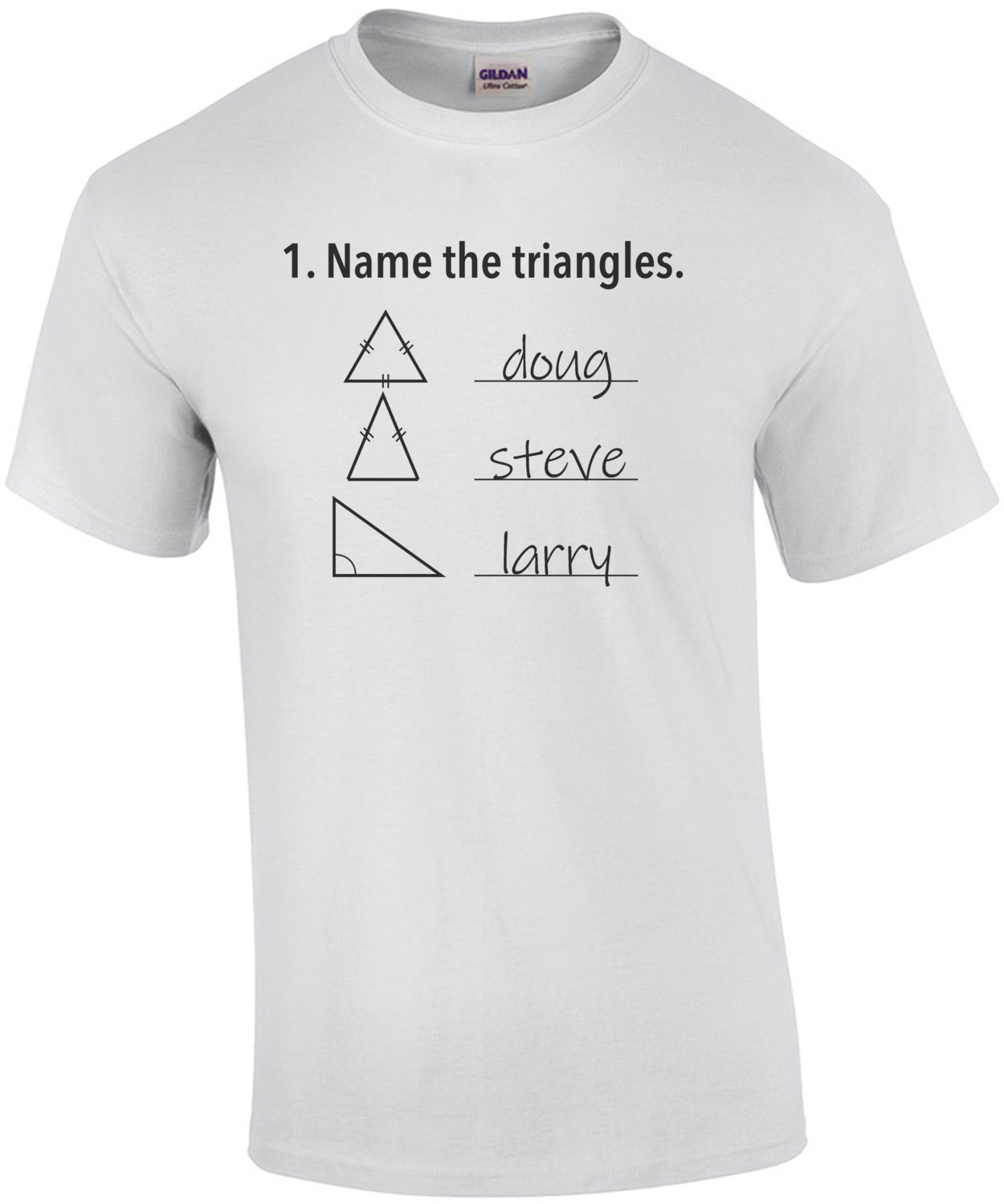 Name the triangles. Funny T-Shirt