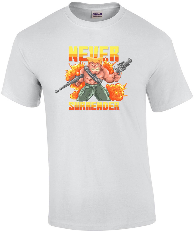 Never Surrender Retro Gaming T-Shirt