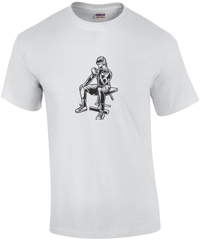No Pain No Gain Retro Weight Lifting T-Shirt