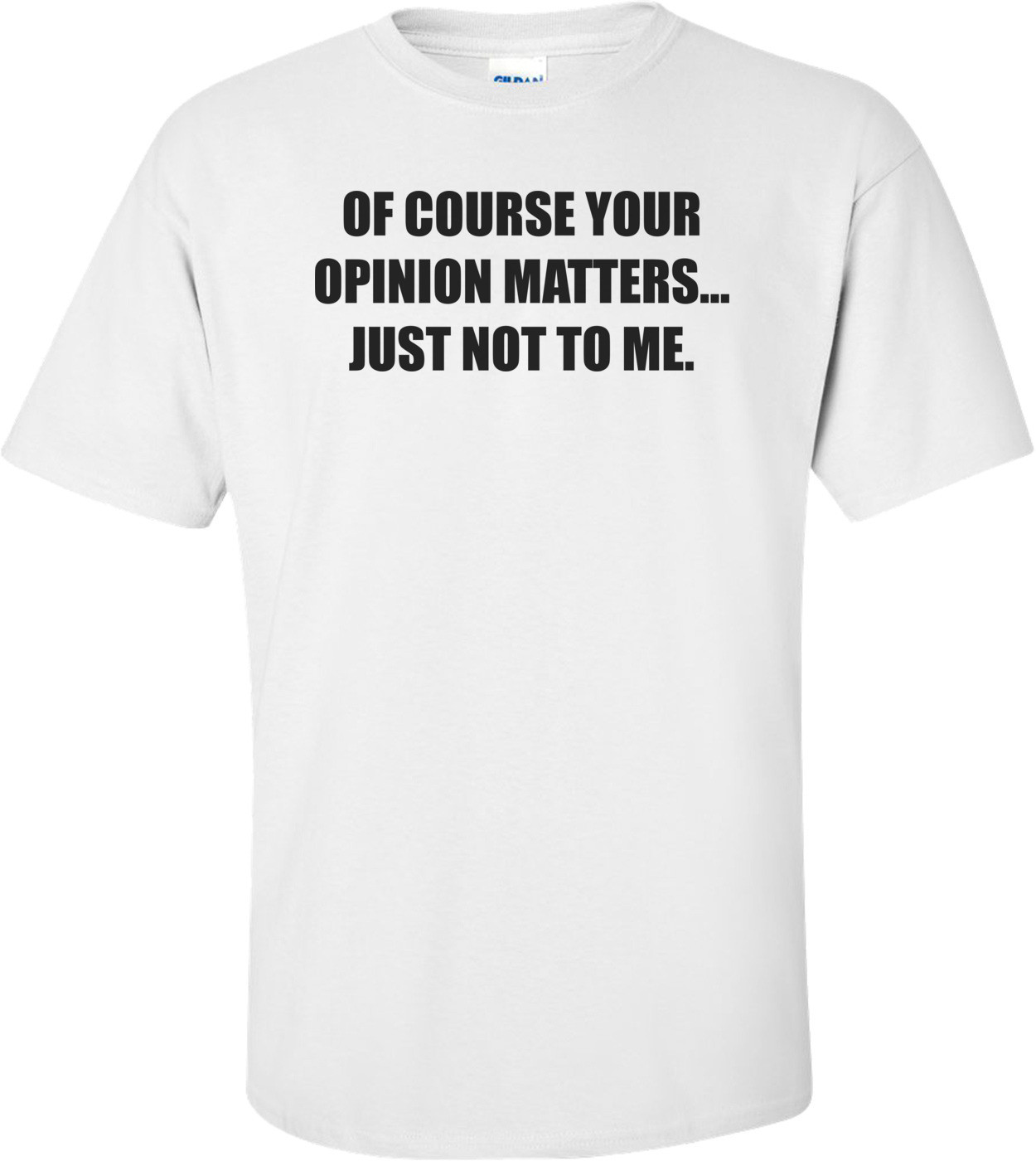 OF COURSE YOUR OPINION MATTERS... JUST NOT TO ME. Shirt