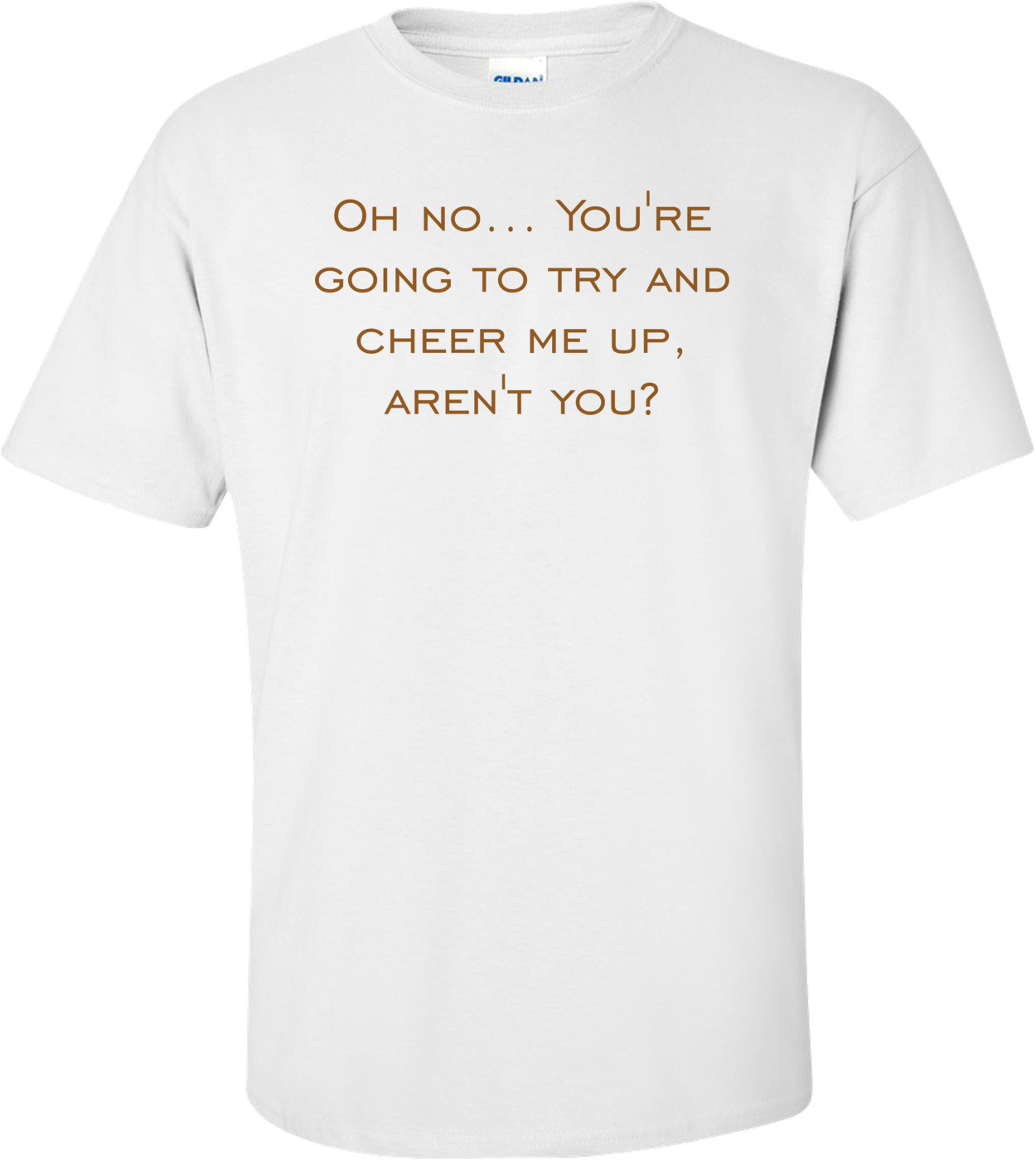 Oh no... You're going to try and cheer me up, aren't you? Shirt