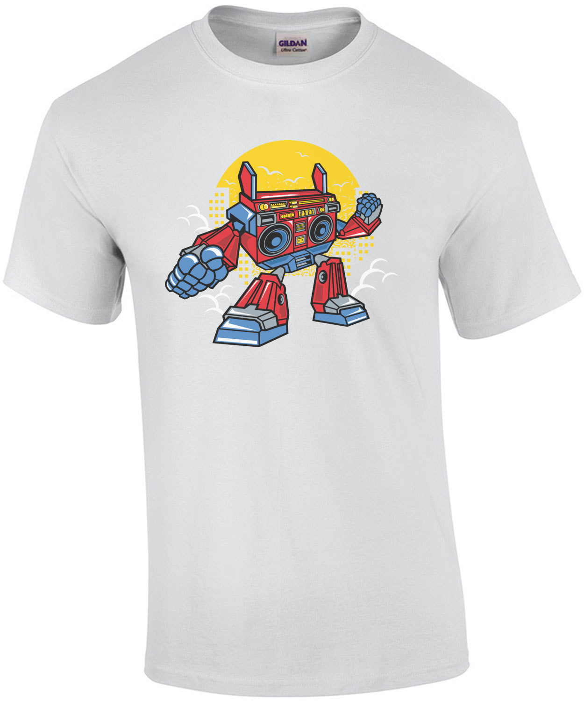 Old School Boombox Robot T-Shirt