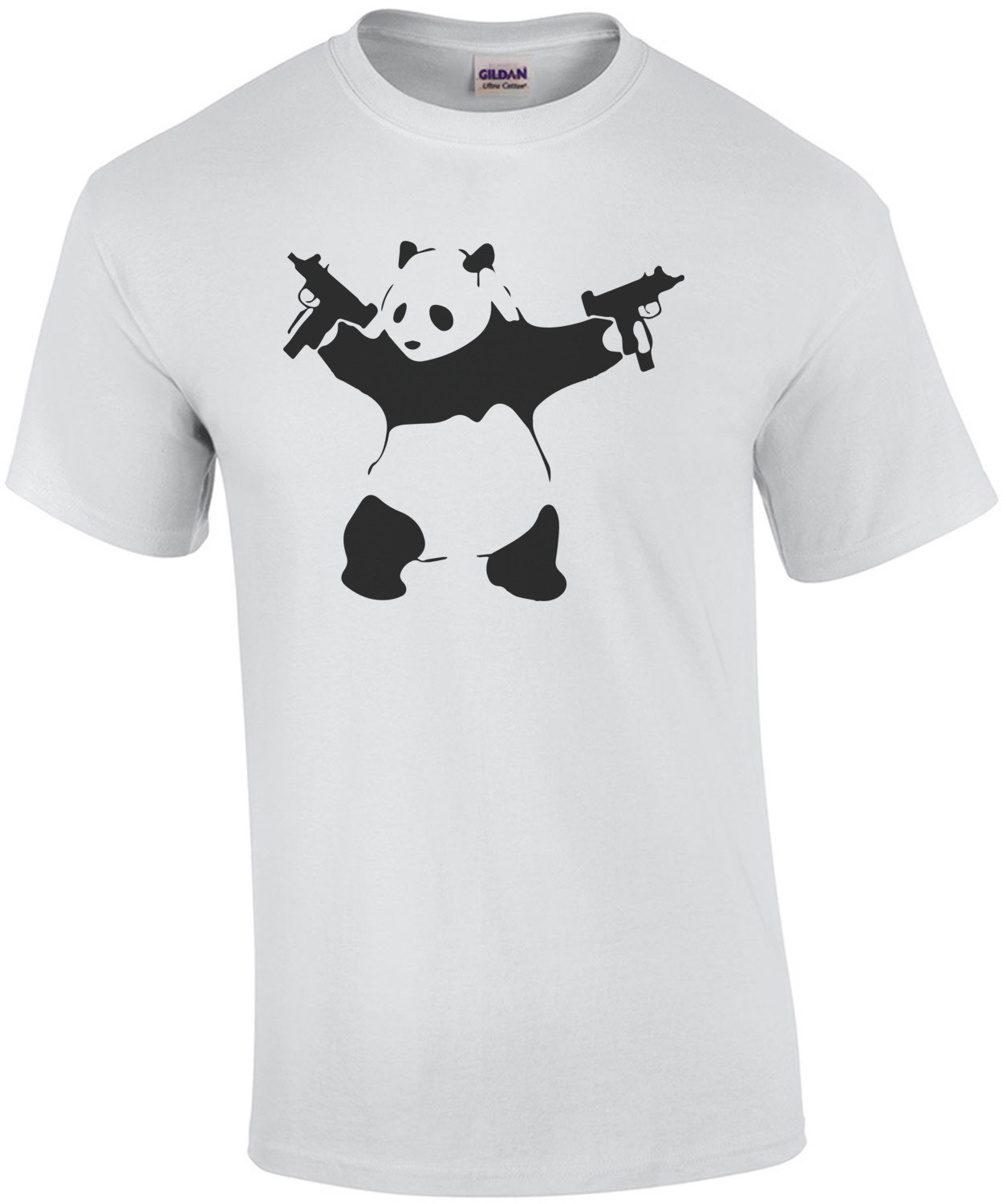 Panda Holding Machine Guns T-Shirt