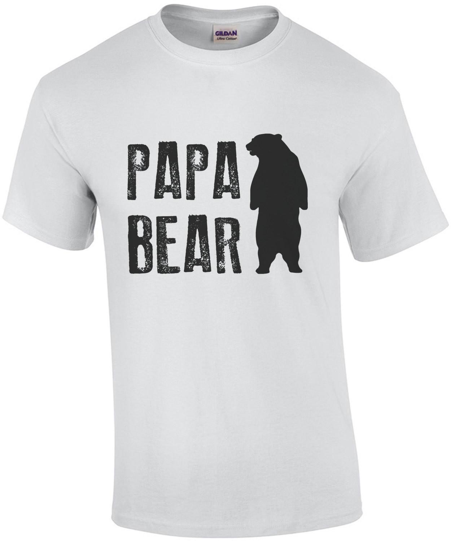 Papa Bear - Dad Father T-Shirt