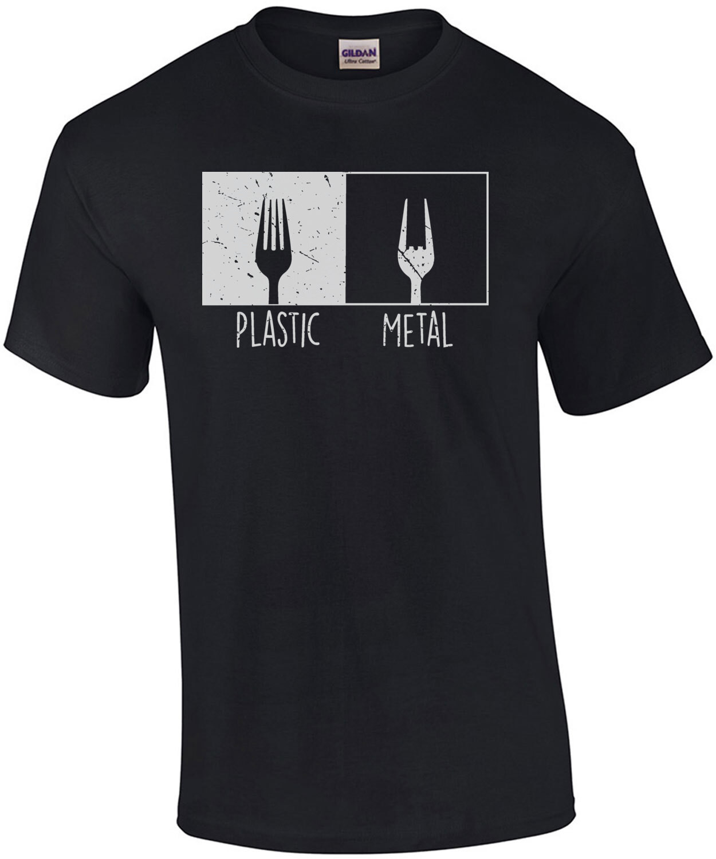 Plastic Metal - Heavy Metal T-Shirt