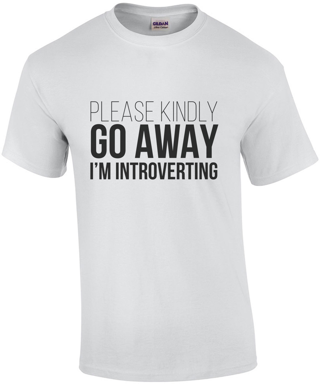Please kindly go away - I'm introverting - Nerd T-Shirt