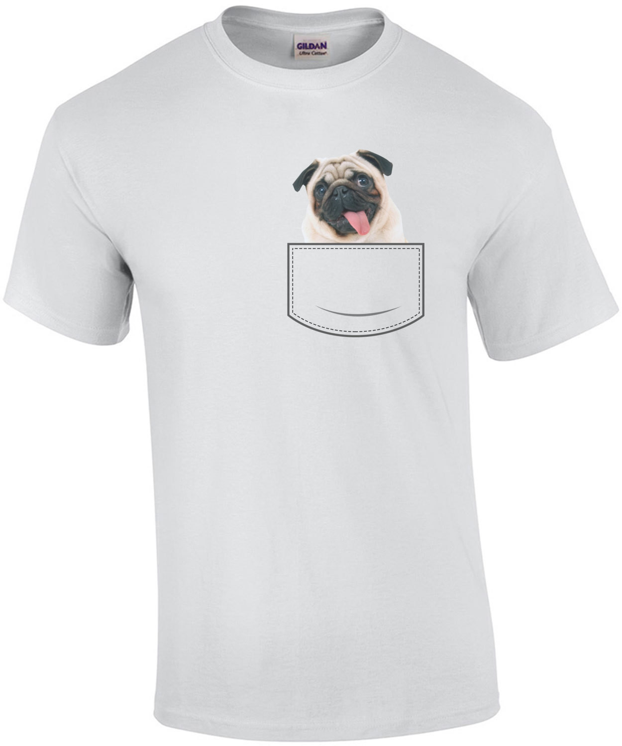 Pug in pocket - pocket pet t-shirt