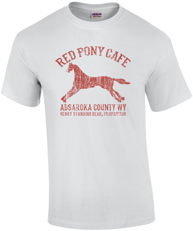 Red Pony Cafe - Absaroka County WY T-Shirt