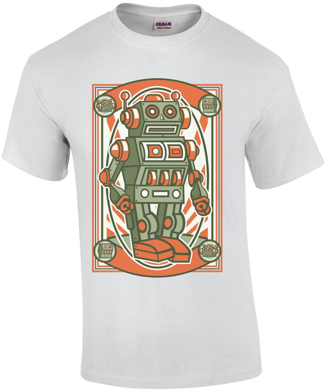 Retro Cartoony Robot T-Shirt