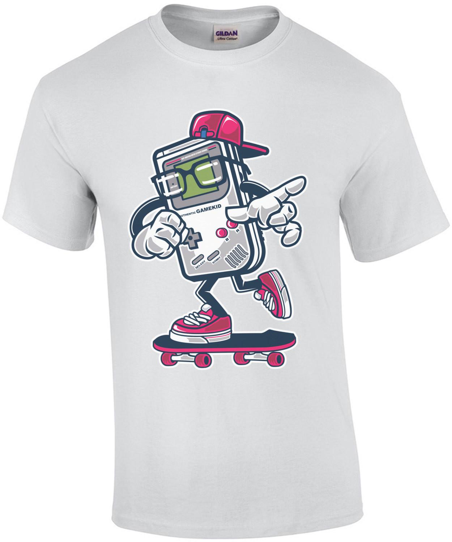 Retro Game Boy Gamekid Skating Gaming T-Shirt