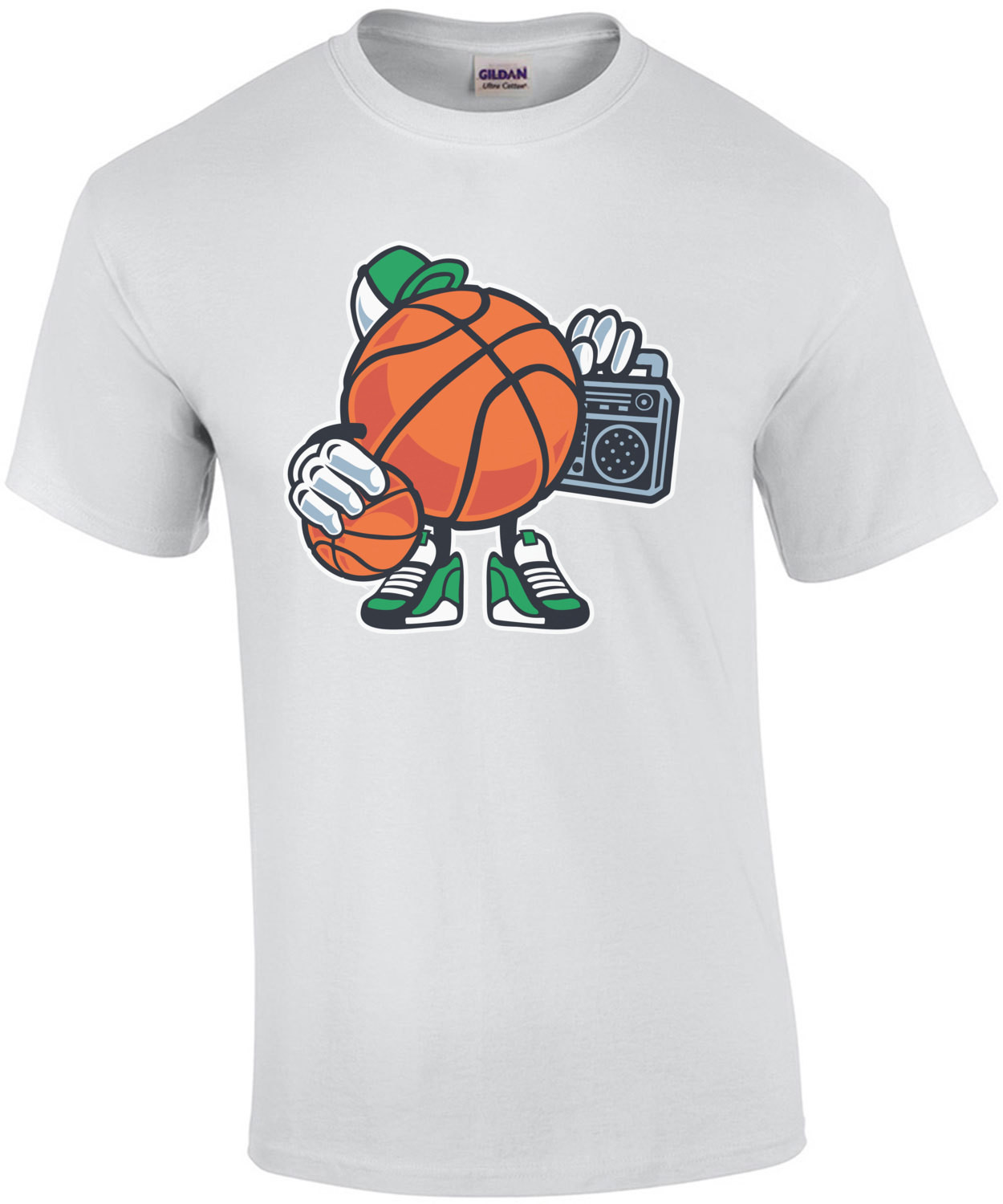 Retro Gangsta Basketball With Boombox T-Shirt