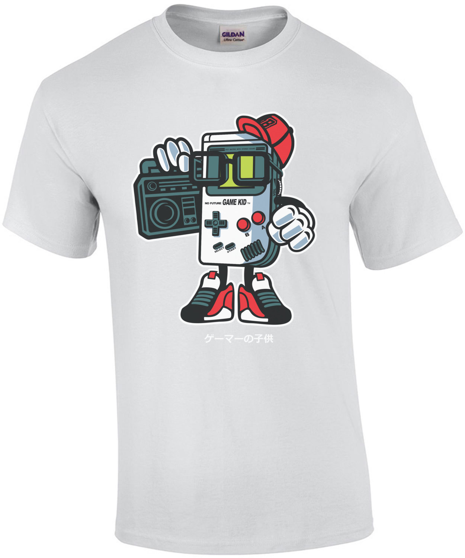 Retro Gangster Game Kid Game Boy Parody Bootleg T-Shirt