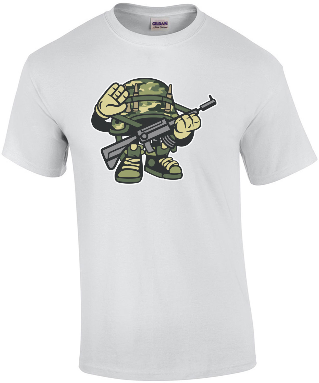 Retro Soldier Salute T-Shirt