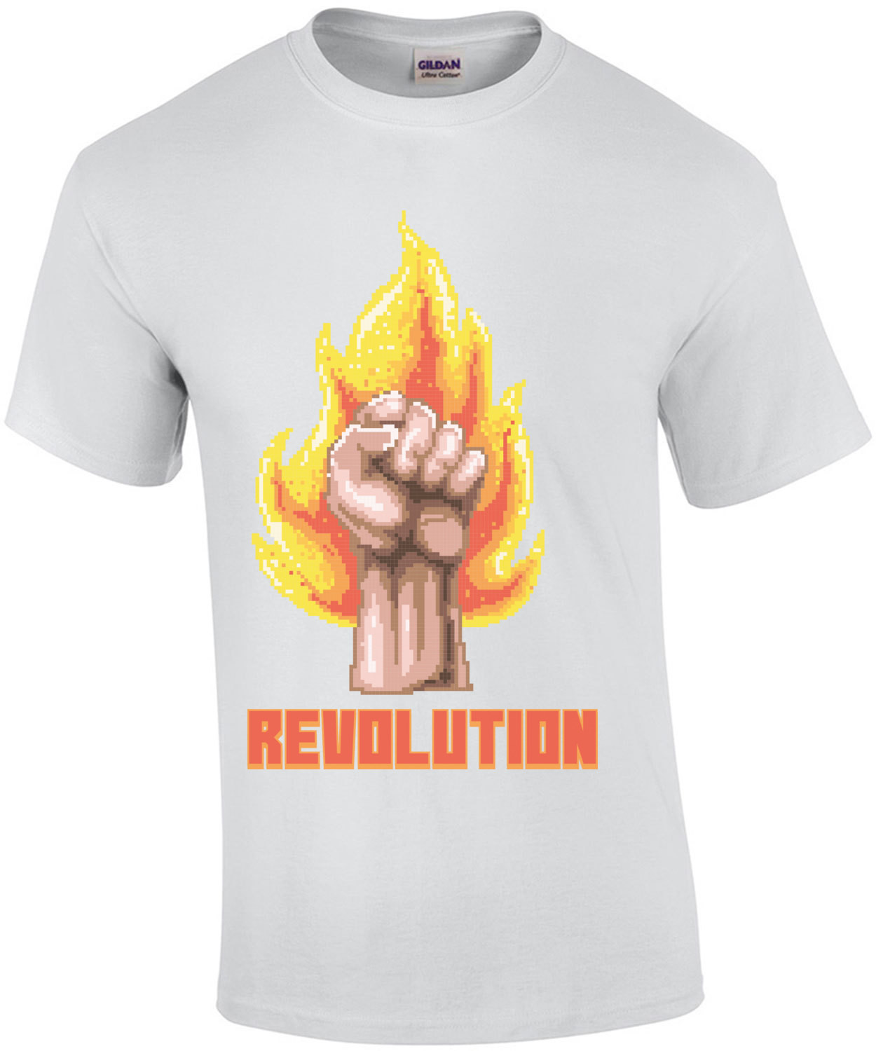 Revolution Burning Fist Retro T-Shirt