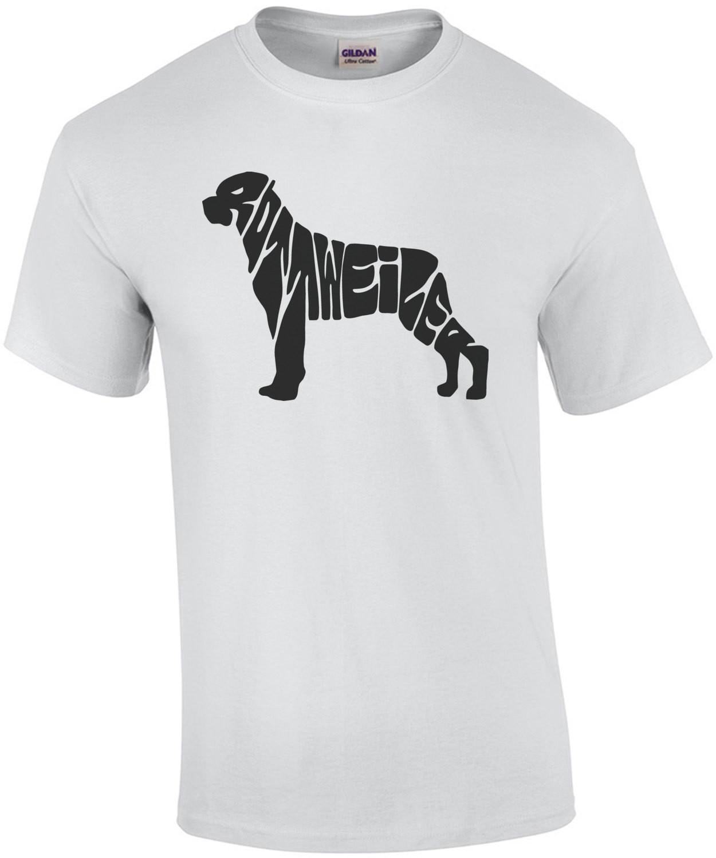 Rottweiler Text In Shape T-Shirt