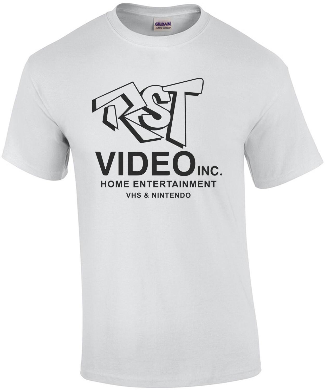 RST Video Inc. Home Entertainment - VHS & Nintendo - Clerks - 90's T-Shirt