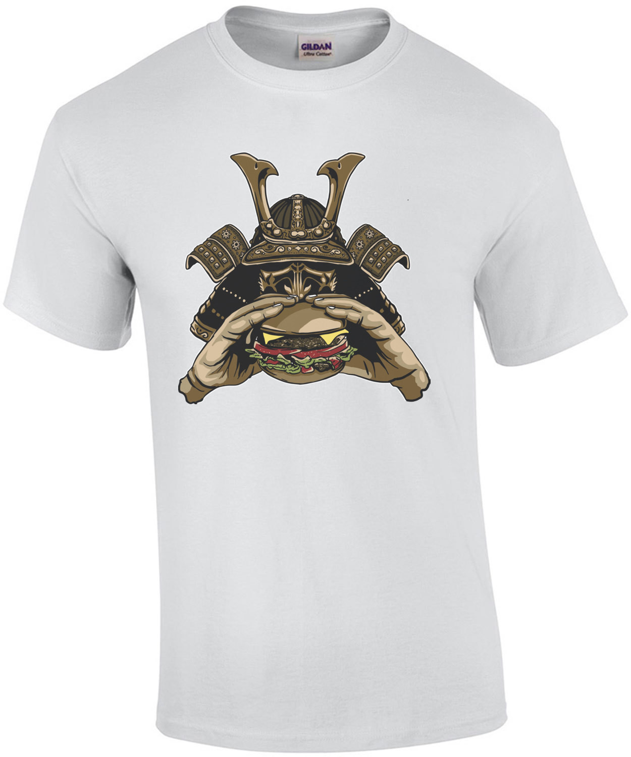 Samurai Eating Cheeseburger T-Shirt