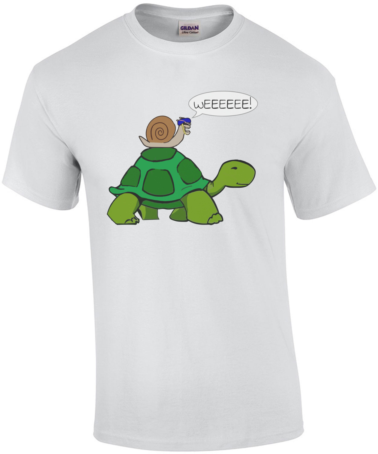 Snail Riding on Turtle WEEEEE Funny T-Shirt