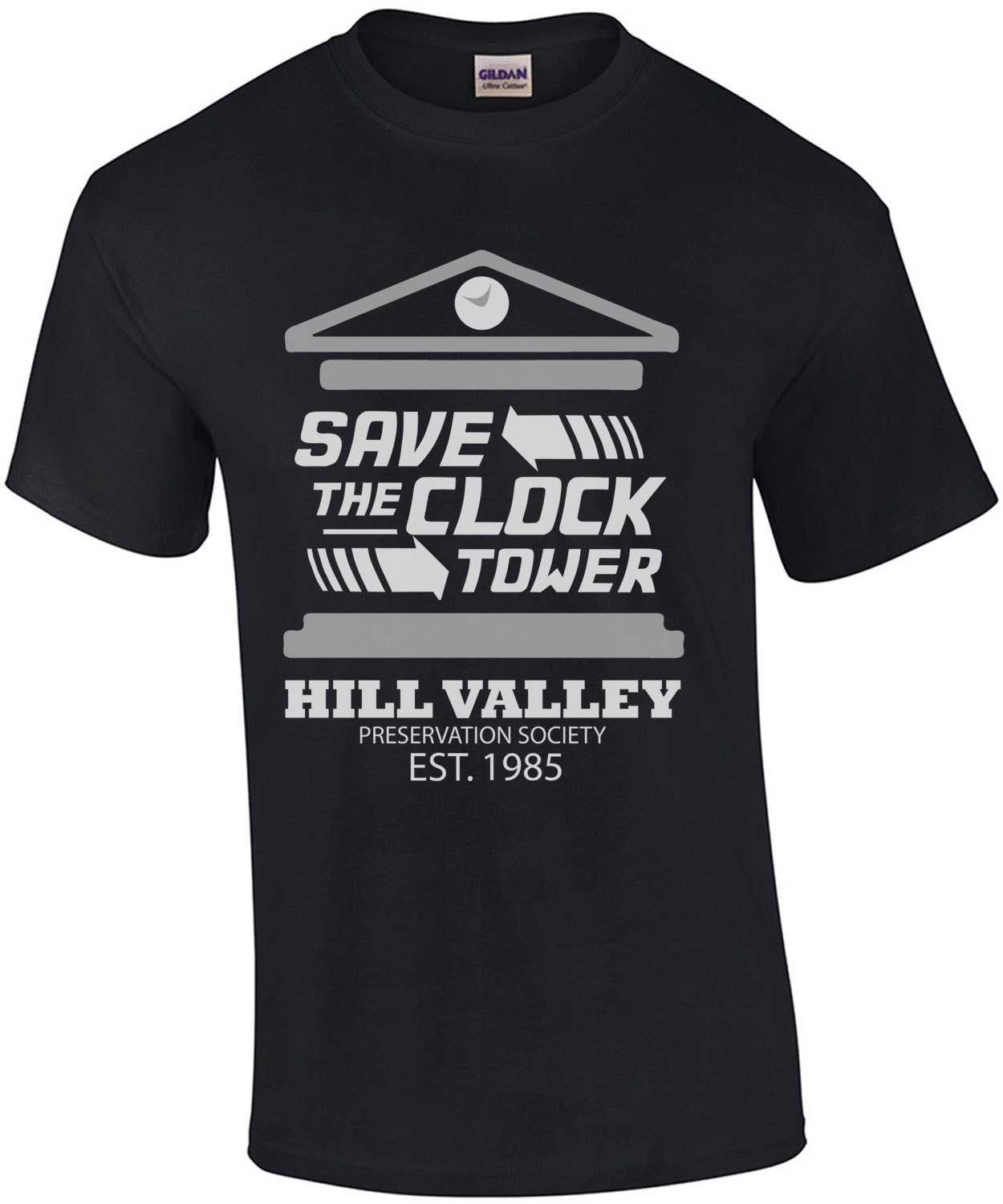 Save the clock tower - Hill Valley - Back to the future t-shirt