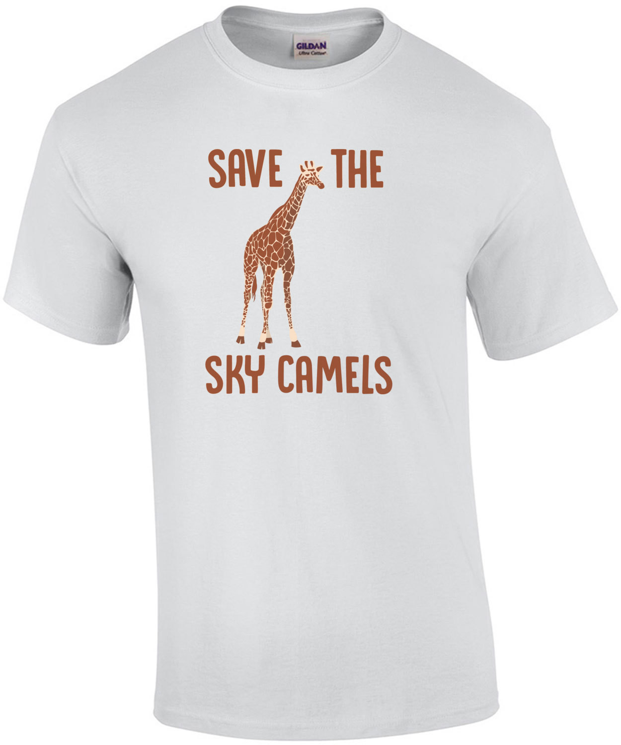 Save the sky camels - funny giraffe t-shirt