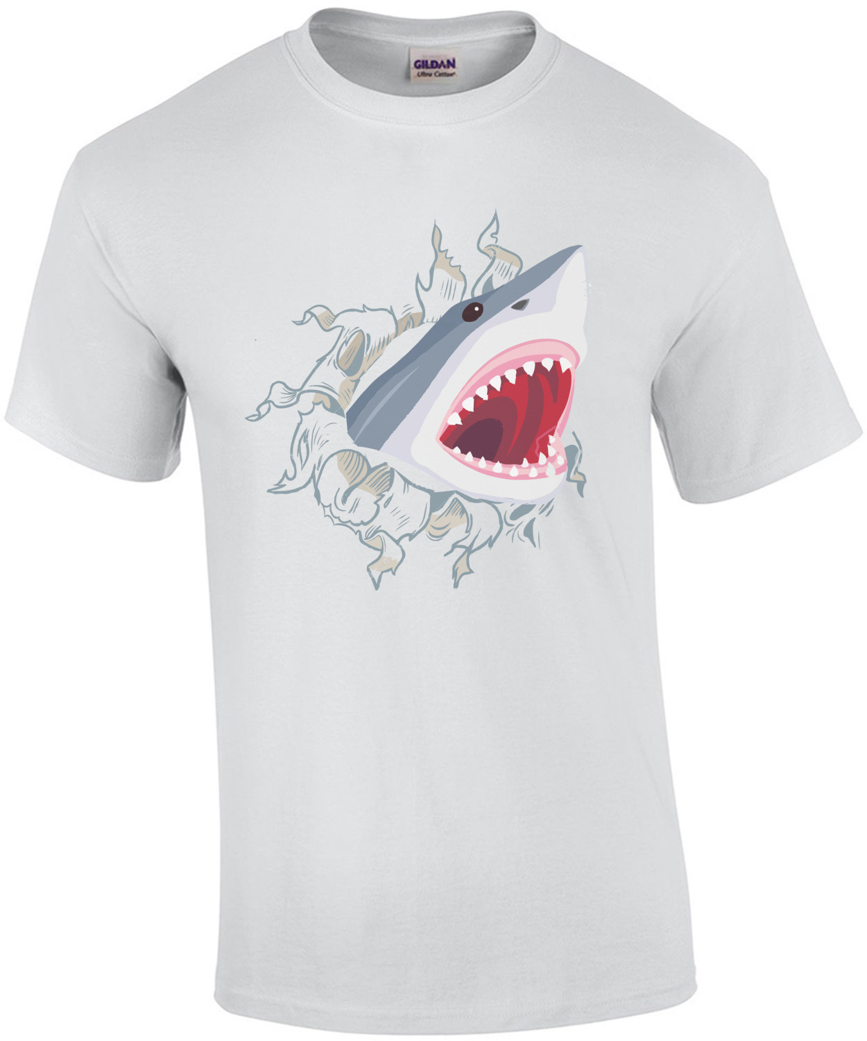 Shark Coming Out Of Chest T-Shirt