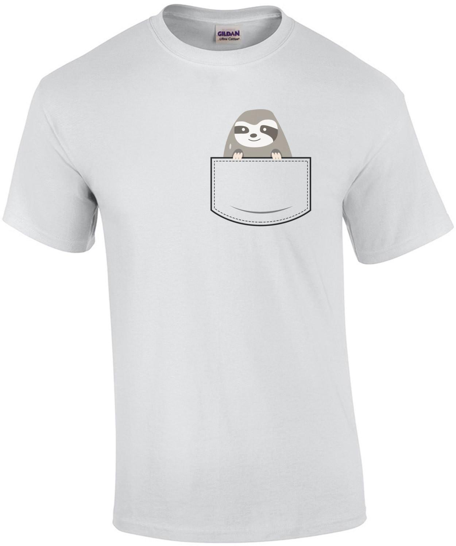 Sloth in pocket - pocket pet t-shirt