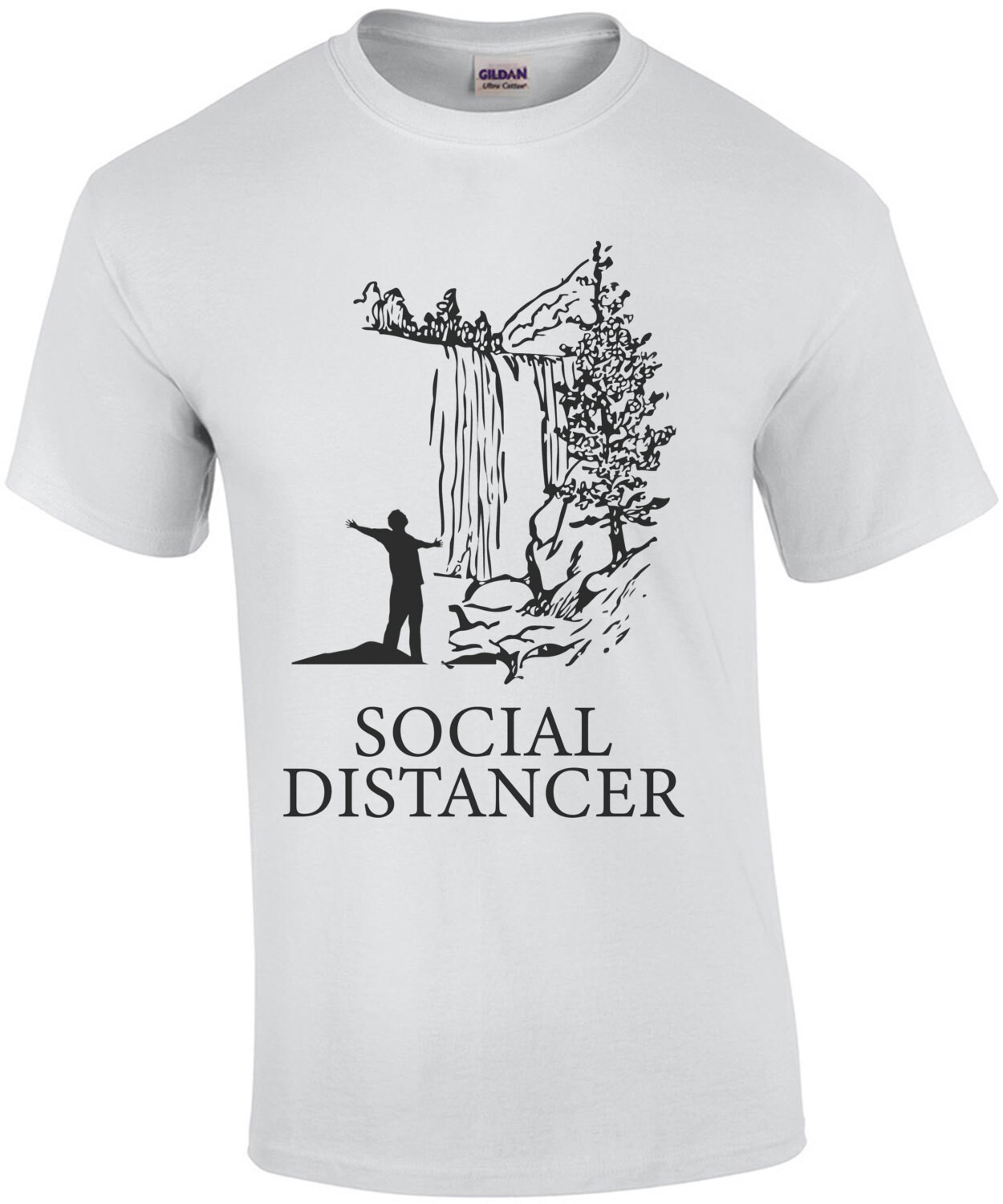 Social Distancer - Funny Camping T-Shirt