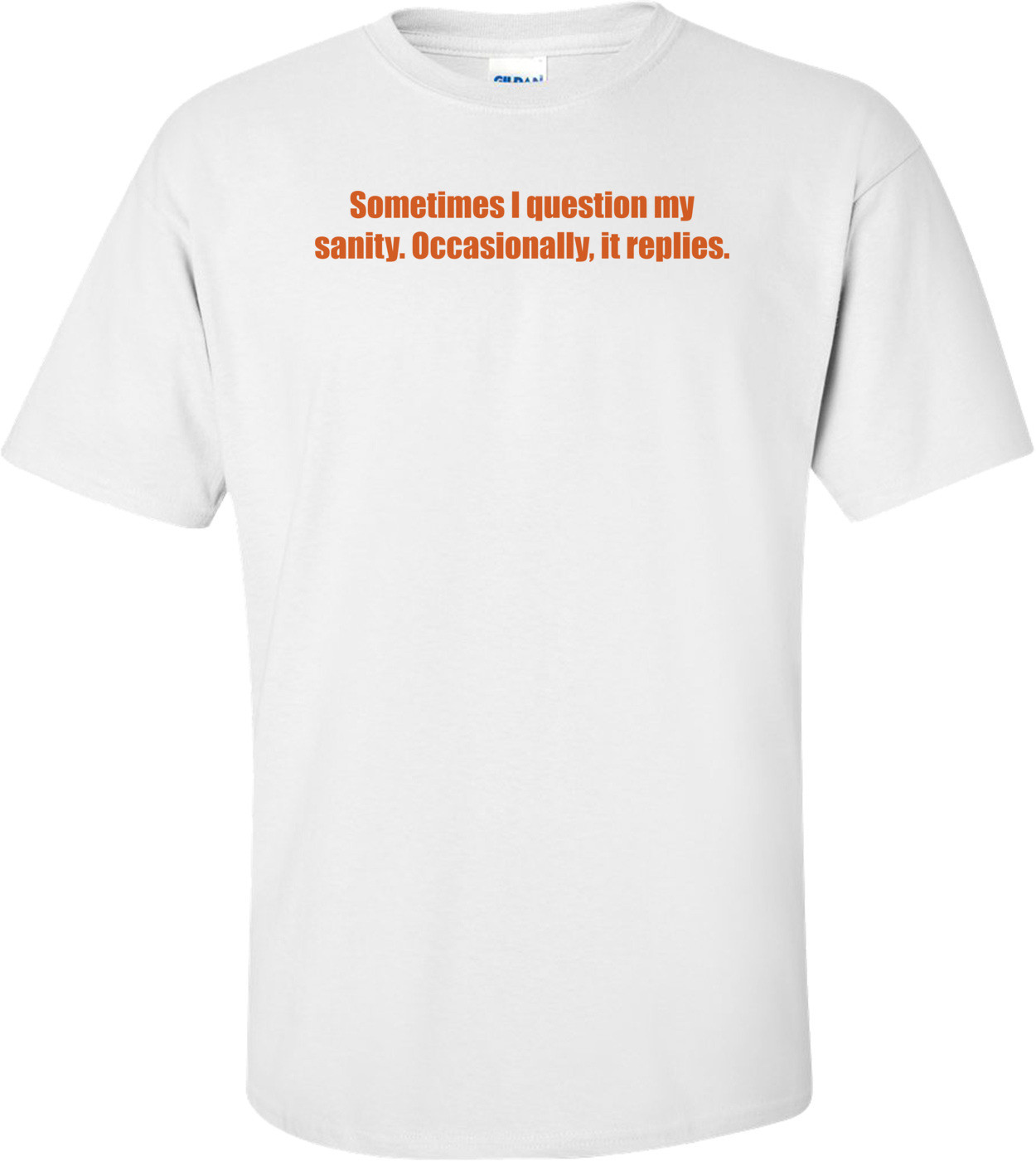 Sometimes I question my sanity. Occasionally, it replies. Shirt