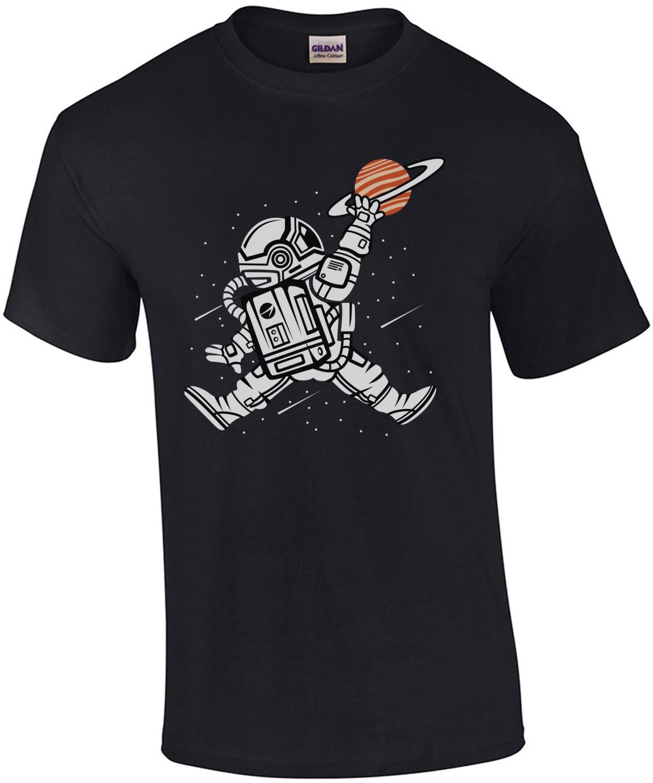 Space Basketball Dunk Saturn T-Shirt